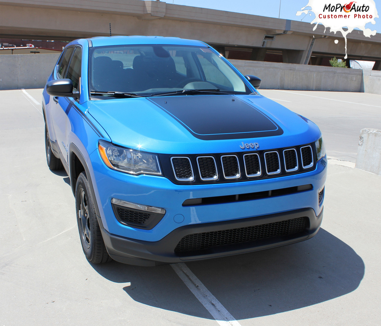 BEARING : Jeep Compass Vinyl Graphics Decal Stripe Hood