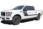 LEAD STROBE : Ford F-150 Stripes Decals Special Edition Lead Foot Appearance Package Hockey Stripe Vinyl Graphics 2015 2016 2017 2018 (M-PDS-5223)