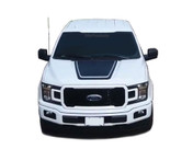 LEAD HOOD : Ford F-150 Hood Decals Special Edition Stripes Lead Foot Appearance Package Vinyl Graphics 2015 2016 2017 2018 (M-PDS-5222)