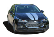 DRIFT RALLY HB : Chevy Cruze Racing Stripes 2017-2018 Hatchback Vinyl Graphics Decals Kit (M-PDS-5111)
