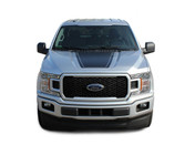 SPEEDWAY HOOD : Ford F-150 Decals Hood Blackout Lead Foot Vinyl Graphic Stripe Kit for 2015 2016 2017 2018