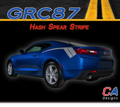 2016-2018 Chevy Camaro Hash Spear Stripe Side Rear Fender Vinyl Graphic Decal Kit (M-GRC87)