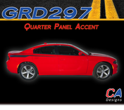 2015-2018 Dodge Charger Stripes Decals Quarter Panel Accent Vinyl Graphic Kit (M-GRD297)