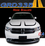 2010-2018 Dodge Durango Hood Scallops Stripe Vinyl Striping Graphic Kit (M-GRD335)