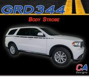 2010-2018 Dodge Durango Body Strobe Stripe Vinyl Striping Graphic Kit (M-GRD344)