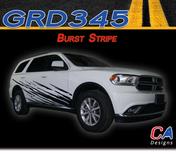 2010-2018 Dodge Durango Burst Body Stripe Vinyl Striping Graphic Kit (M-GRD345)