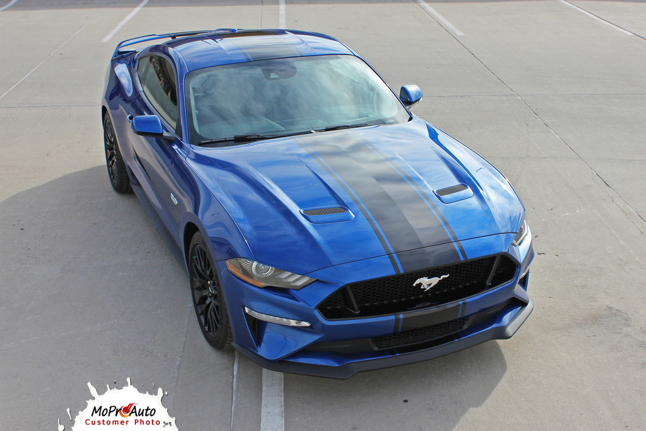 Hyper Rally 2018 Ford Mustang Racing Stripes Center Wide