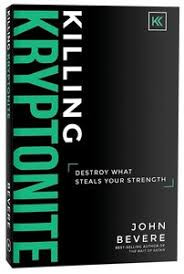 Author: John Bevere  Destroy What Steals Your Strength  Just like Superman, who can leap over any hurdle and defeat every foe, followers of Christ have the supernatural ability to conquer the challenges we face. But the problem for both Superman and us is there's a kryptonite that steals our strength.  Of course, both Superman and kryptonite are fictional. But spiritual kryptonite is not.  This book offers answers to why so many of us are unable to experience the divine strength that was evident among first-century Christians.  In Killing Kryptonite, John Bevere reveals what this kryptonite is, why it's compromising our communities, and how to break free from its bondage.  Not for the faint of heart, Killing Kryptonite is anything but a spiritual sugar high. This is serious truth for any Christ-follower who longs to embrace the challenging but rewarding path of transformation.  Includes discussion questions for group study.  Hardcover. 320 pages.