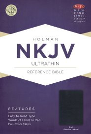 NKJV Large Print Reference Bonded Leather - Burgundy