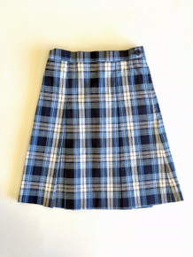 Girls Box Pleat Skirt - Plaid 76