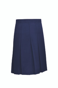 Girls Stitched Down Pleat Solid Skirt