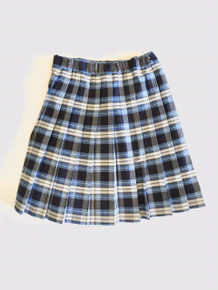 Girls Knife Pleat Skirt - Plaid 76