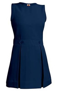 Girls Box Pleat Jumper - Navy Only