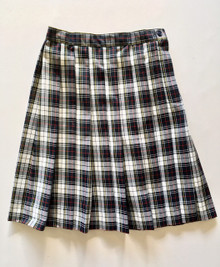 "Girls Plaid Knife Pleat Skirt +4"" - VDMA"