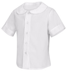 Classroom Toddler Short Sleeve Peter Pan Blouse - FJCS