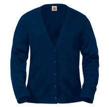 School Apparel Female Fine Gauge V-Neck Cardigan - FJCS