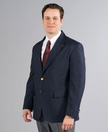 Men's Single Breast Blazer in Navy - FJCS