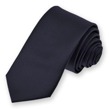 Boys Four in Hand Tie in Navy - VDMA