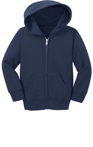 Precious Cargo® Toddler Full-Zip Hooded Sweatshirt w/Embroidery Logo - Trinity