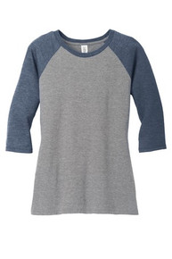District Made® Ladies Perfect Tri™ 3/4-Sleeve Raglan w/Spirit Screen Logo - Trinity