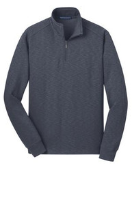 Port Authority® Slub Fleece 1/4-Zip Pullover w/Embroidery Logo - Trinity