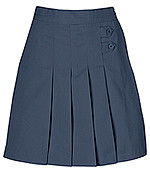 Girls Skort - Two Tab w/Pleats - Navy Only