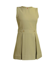 Girls Box Pleat Jumper - Khaki Only