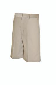 Male Flat Front Shorts - KHK & BLK