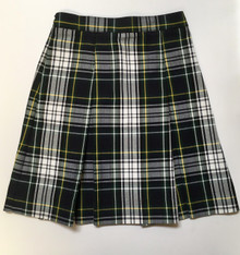 Girls Box Pleat Plaid Skirt - SFDA