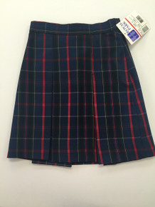 Girls Box 3 Pleat Plaid Skirt - TPA