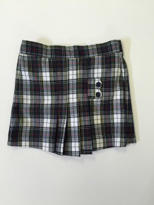 Girls Skort - Two Tab w/Pleats in Plaid 8B