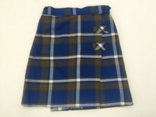 Girls Skort - 2 Button Tabs in Plaid 73