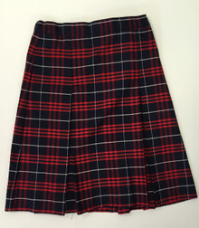 Girls Skirt - Center Box Pleat in Plaid 36