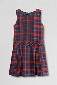 Girls Jumper - Drop Waist in Plaid 36