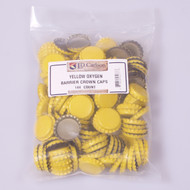 Crown Bottle Caps Yellow 144 ct