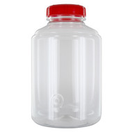 """All the great features of the FerMonster in a new 3 gallon size! Incredibly easy to clean, the FerMonster features smooth, ribless sides to reduce the residual yeast and sediment build-up and an incredible 4"""" wide-mouth opening, which reduces  both spillage and the need for additional equipment when filling or cleaning the FerMonster. Includes a lid with a drilled hole to easily insert a #10 stoppper or drilled medium bung.   FerMonster Features: - 3 gallons in size - Brilliantly clear with built-in gallon markings - Made with food-grade plastic and BPA-free - Lid is constructed as one piece, providing an airtight seal"""