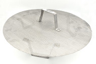 Stainless steel false bottom with legs, fits 16-gallon pots and kettles.  15.5-inch diameter.