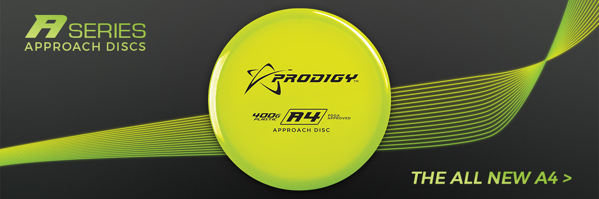 The A4 is a slightly over stable disc that fills the distance gap between midranges and putters and is designed for all skill levels.