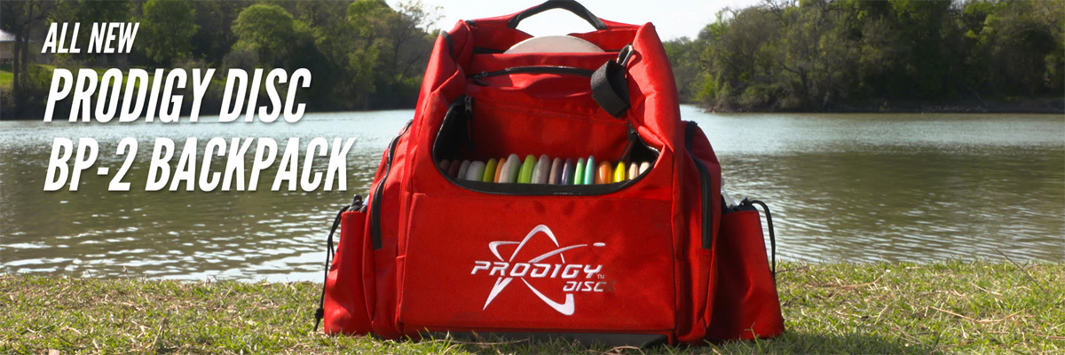 The Prodigy BP-2, medium back pack,  is extremely light, yet allows you to carry approximately 25 discs