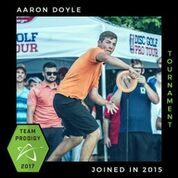 Aaron Doyle, Member of the Prodigy's Tournament Team, Disc Golf Champions