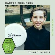 Harper Thompson, Prodigy Disc Protegee, New generation of elite disc golfers.