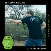 Jeremy Novak, Member of the Prodigy's Tournament Team, Disc Golf Champions