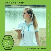 Mandy Sharp, Member of the Prodigy's Tournament Team, Disc Golf Champions