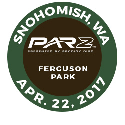 Disc Golf PAR2 Event. Ferguson Park,Snohomish, Washington, April 22 2017