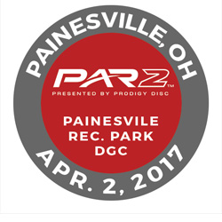 Disc Golf PAR2 Event. Painesville Recreation Park Disc Golf Course, April 2 2017