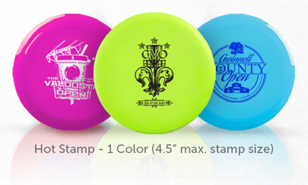 "Hot Stamp - 1 Color (4.5"" max. stamp size)"