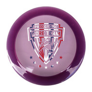 Core Team Series D2 - 450 Plastic S.E purple with a white, blue and red seal