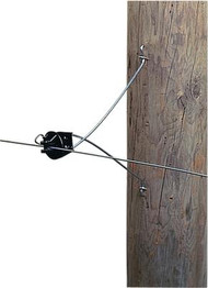 Gallagher 12 Inch Offset with Insulator Attaches to Wood Post Black Only
