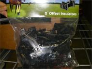 "Electrobraid  Fence Offset 2""  Wood Post Insulators Bag 25"