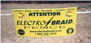 Electrobraid Electric Fence Warning Sign Pack 3